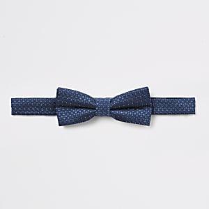 Marineblaue Jacquard-Fliege