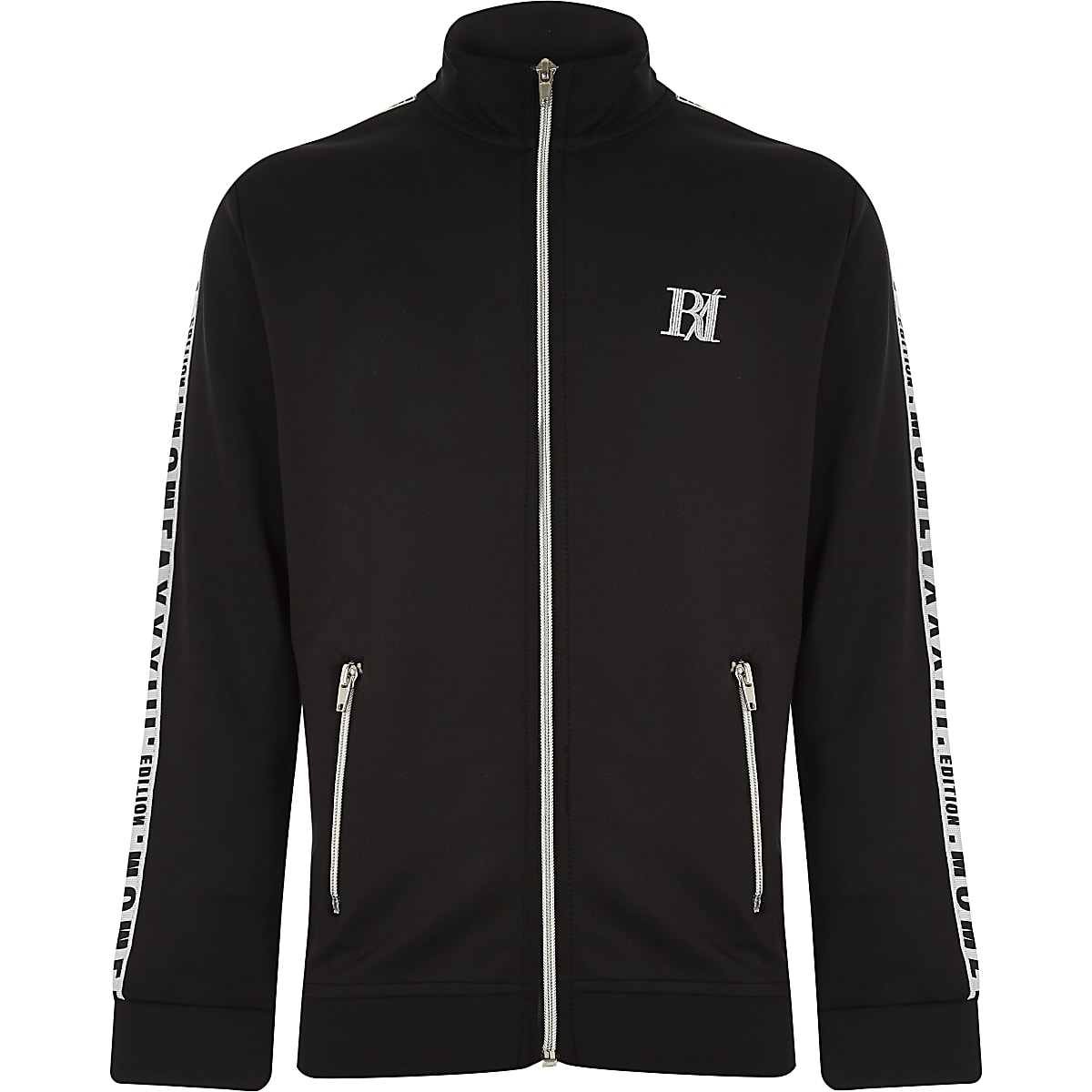 Boys black 'limited edition' track jacket