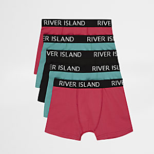 Boys mixed colour RI boxers multipack