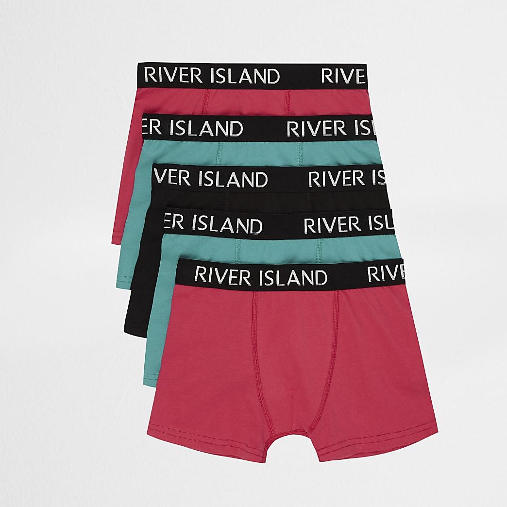Boys mixed colour RI boxers multipack