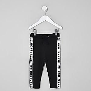 Mini - Zwarte joggingbroek met bies opzij voor jongens