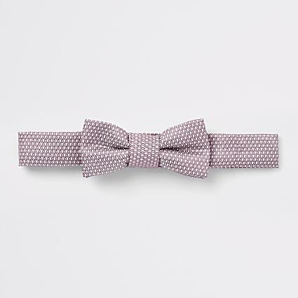 Mini boys pink jacquard bow tie