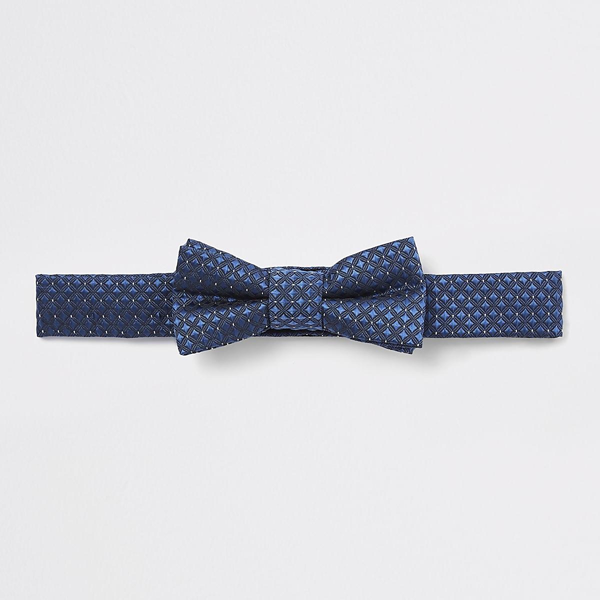 Mini boys navy jacquard bow tie