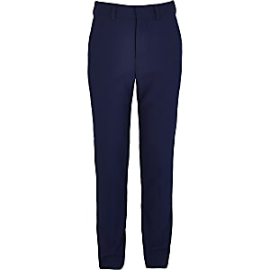 Boys blue suit trousers