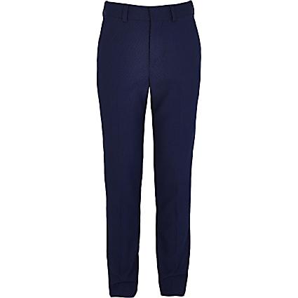 Boys blue suit trousers
