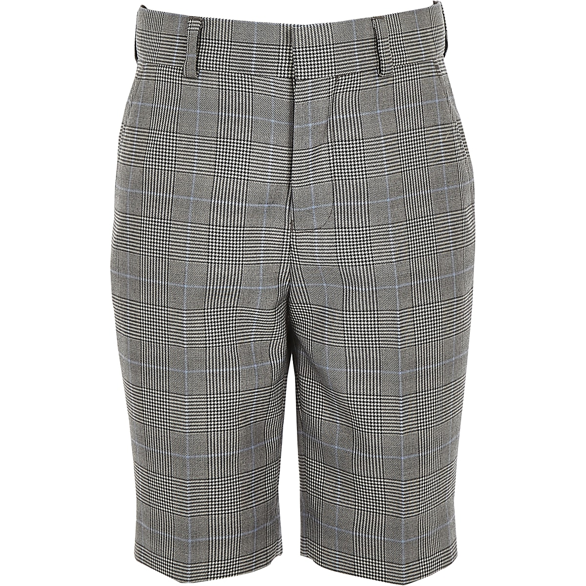 dced9d924 Boys grey mixed check suit shorts - Suit Shorts - Suits - boys