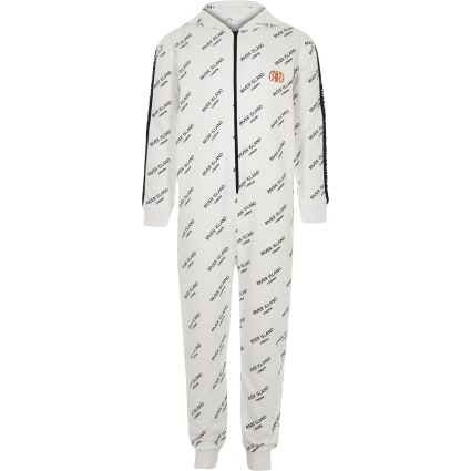 Boys white RI onesie
