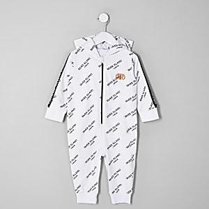 Mini - Witte onesie met RI-print voor jongens