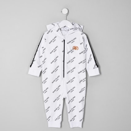 Mini boys white RI onesie
