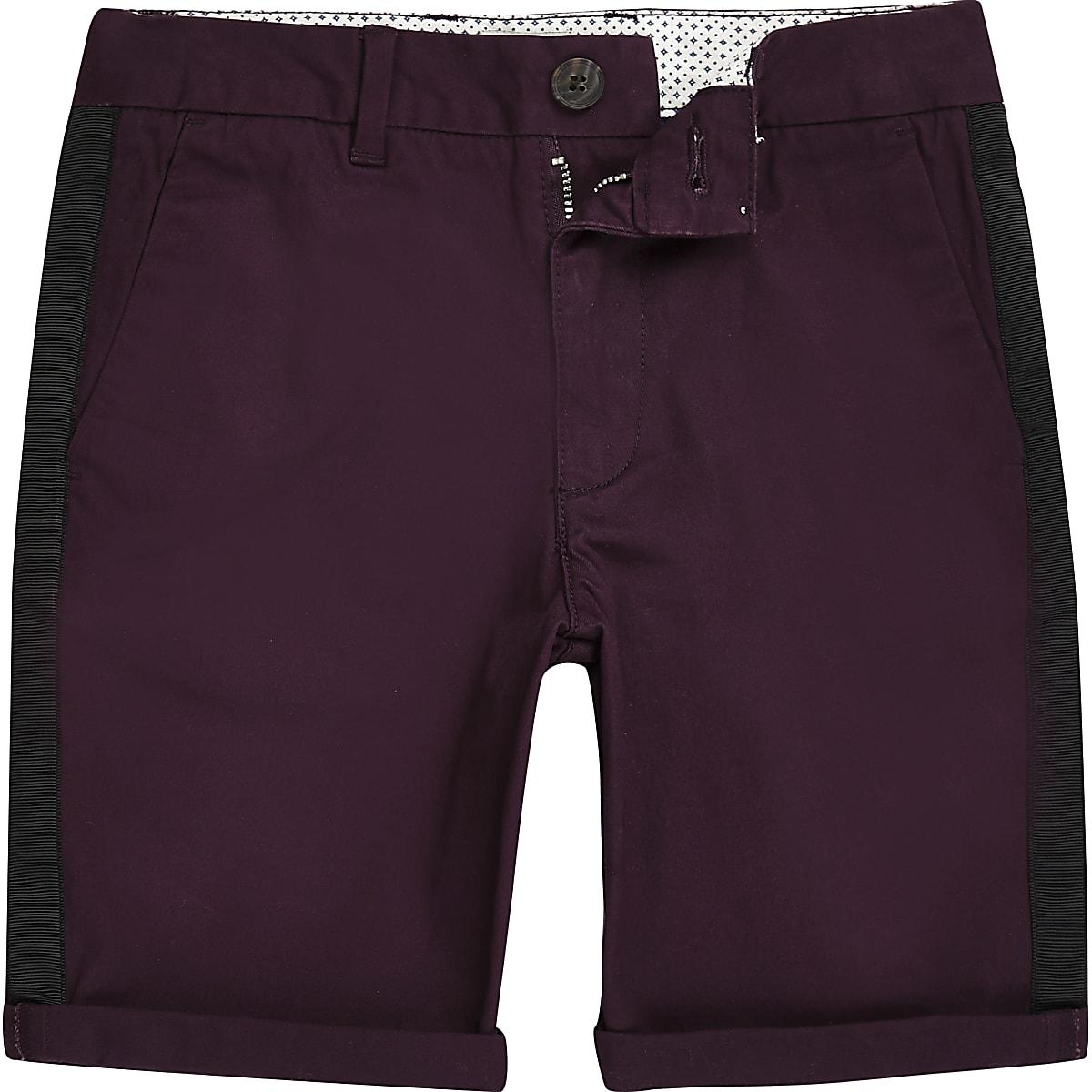 Boys purple Dylan tape chino shorts