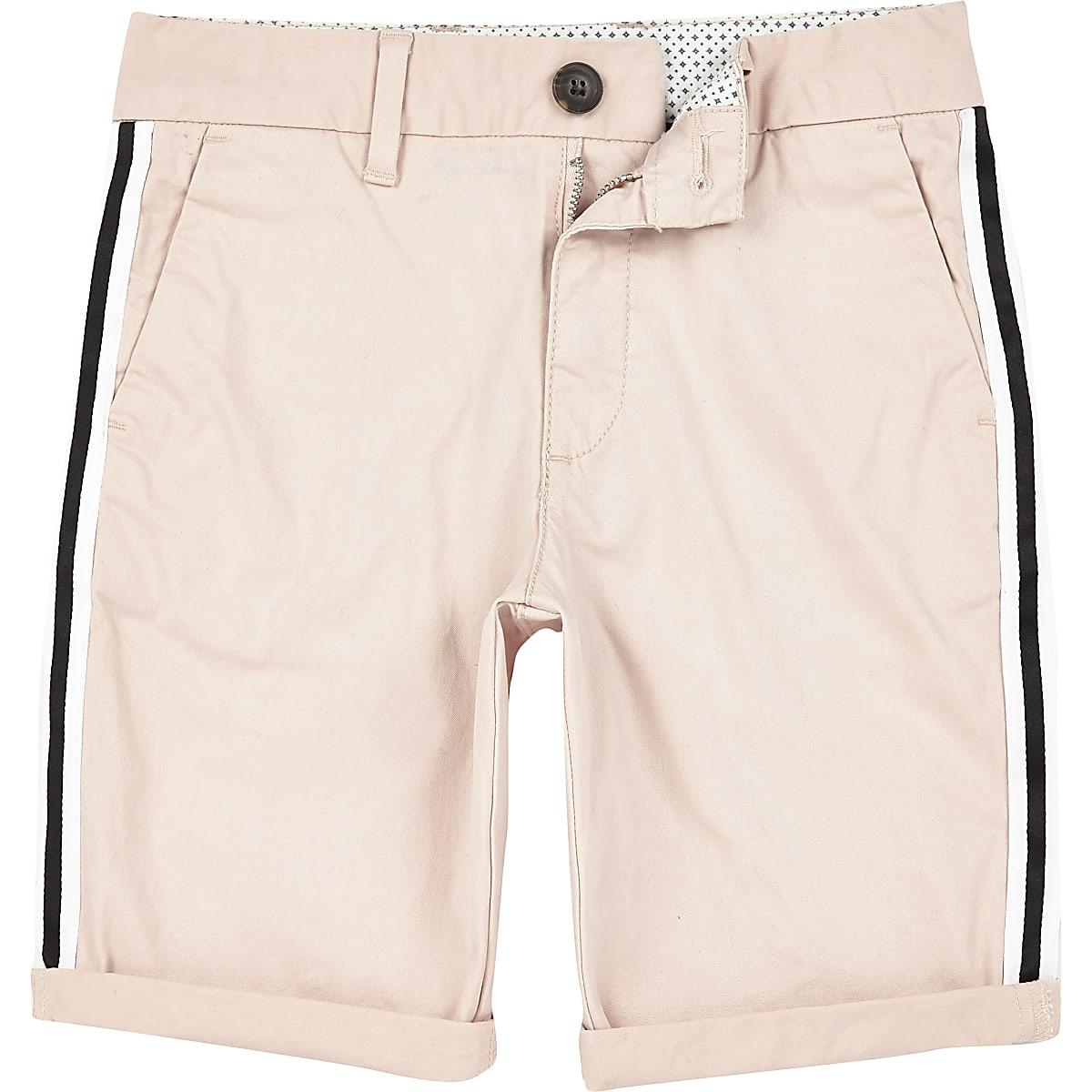 Boys pink Dylan tape chino shorts