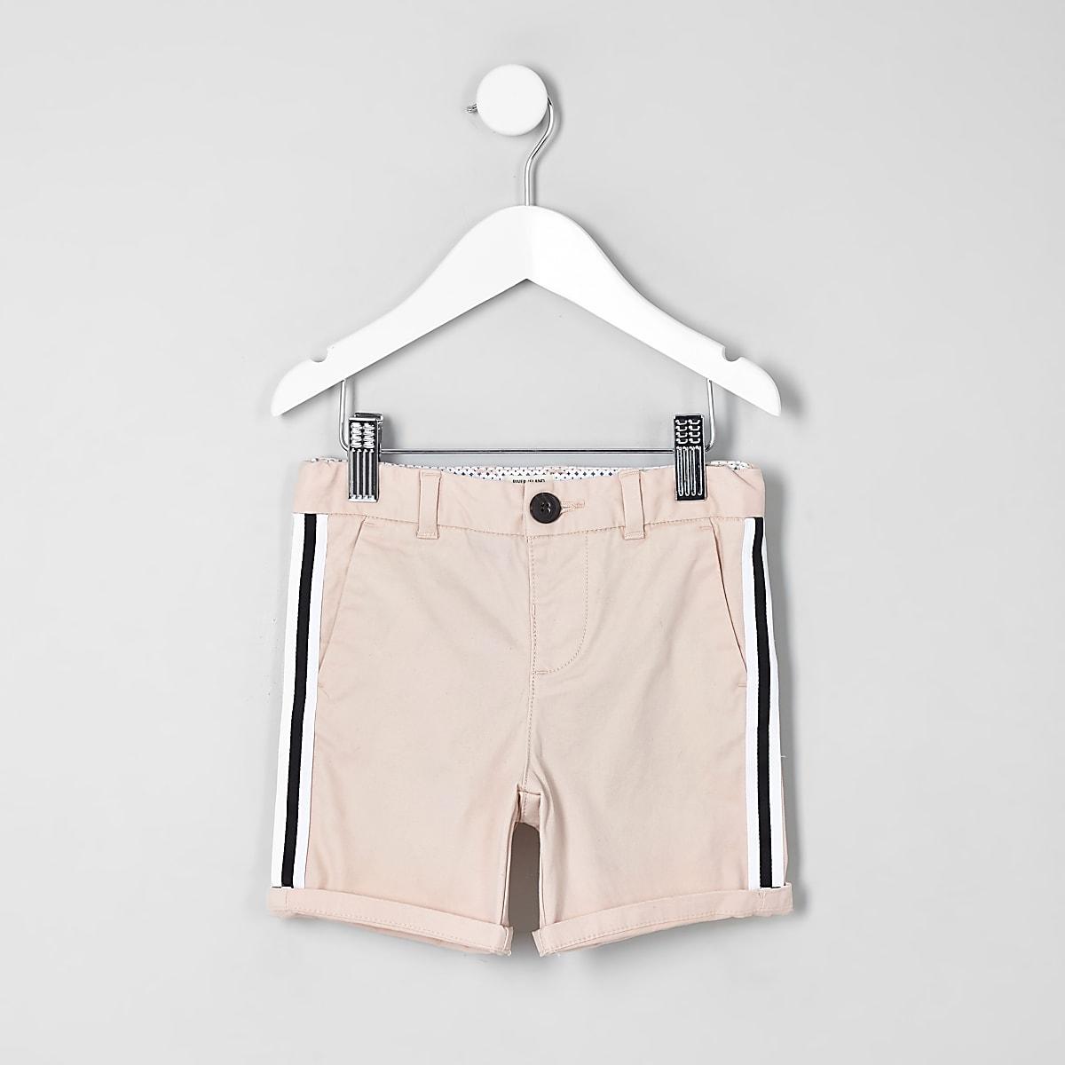 Mini boys pink Dylan tape chino shorts