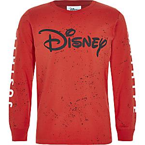 Hype - Rood T-shirt met Disney- en spetterprint voor jongens