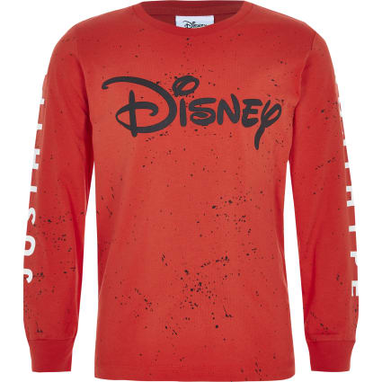 Boys red Hype Disney splatter T-shirt