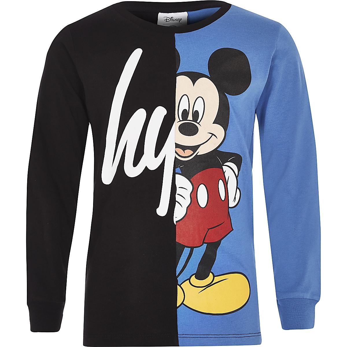 Hype - Zwart T-shirt met Disney-print en split