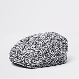 Mini boys grey jersey flat peak cap