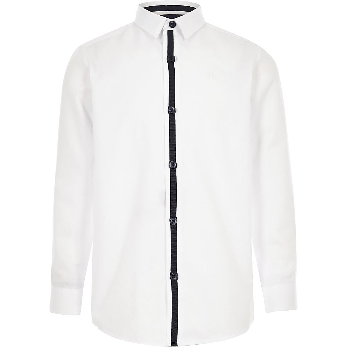 Wit overhemd met RI-logo voor jongens