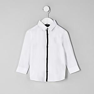Mini - Wit overhemd met RI-logo voor jongens