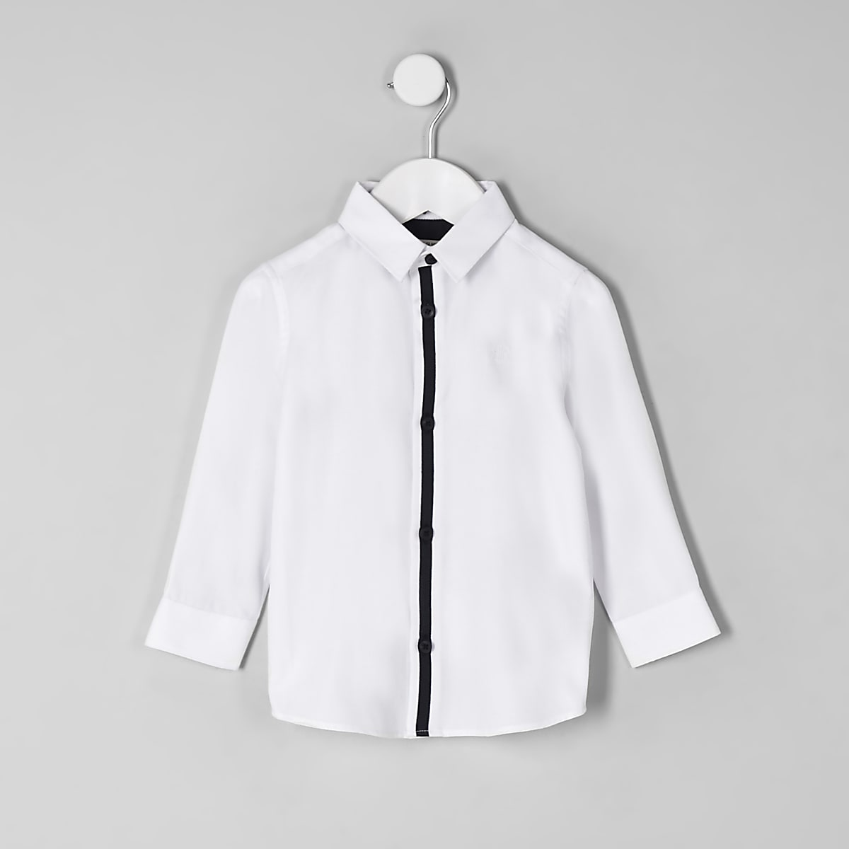 Mini boys white RI crest shirt