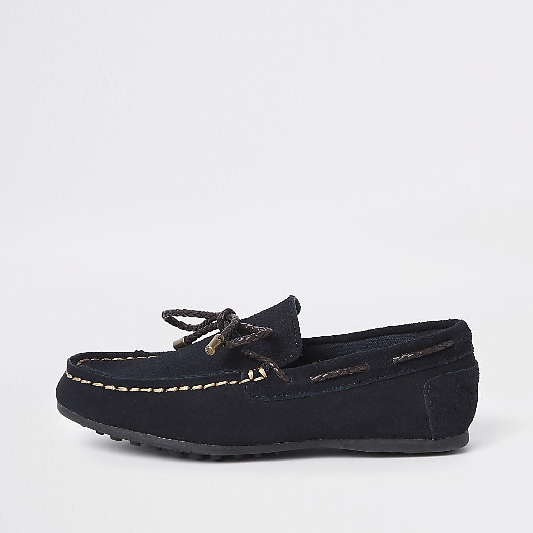 Marineblaue Loafer zum Binden