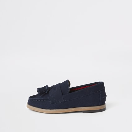 Mini boys navy tassel loafers