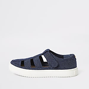 Boys denim caged sandal