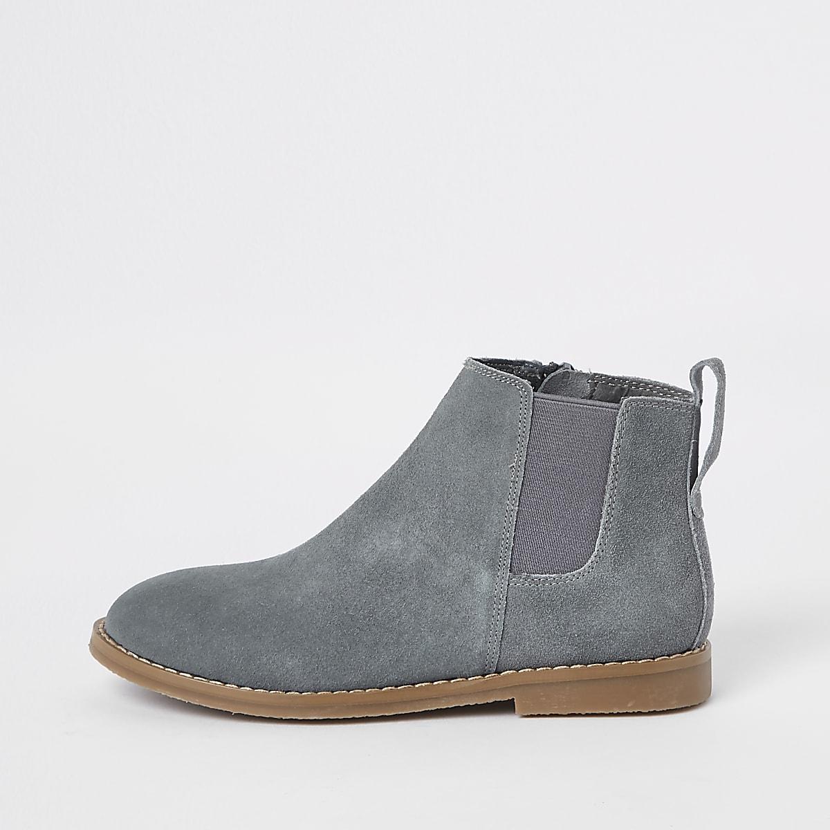 Grijze suède chelsea boots voor jongens