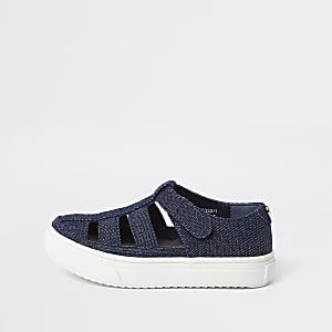 Mini - Denim sandalen met bandjes voor jongens