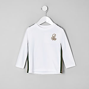 Mini boys white 'R96' long sleeve T-shirt