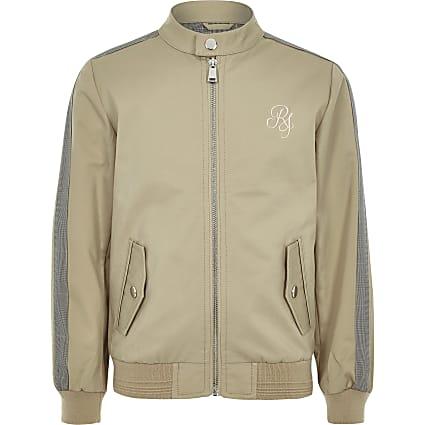 Boys stone RI bomber jacket