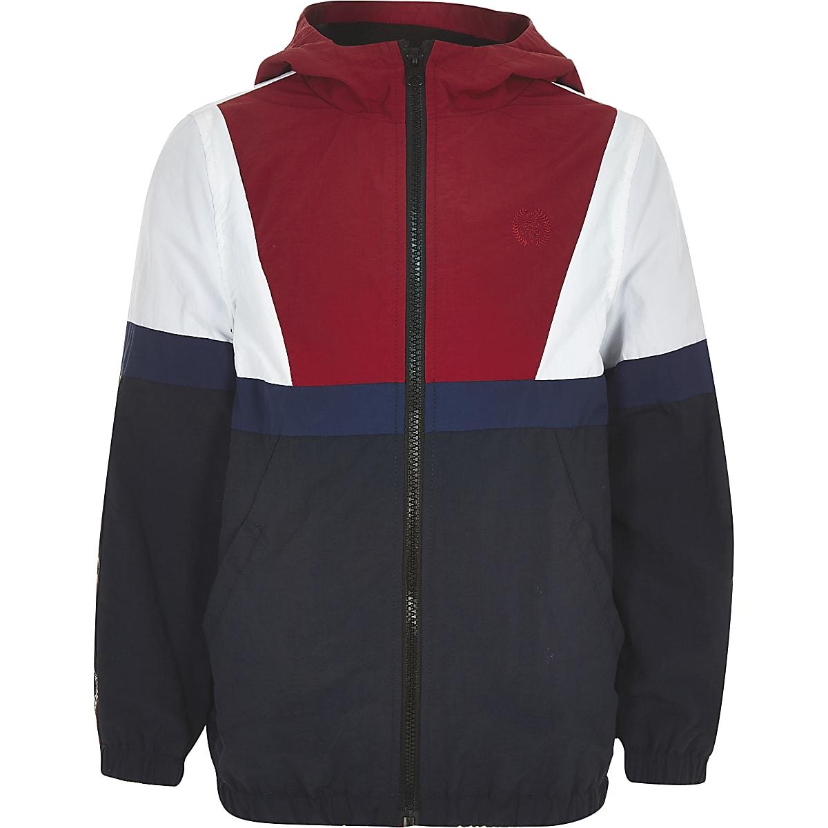 Boys navy 'atelier' lightweight track jacket