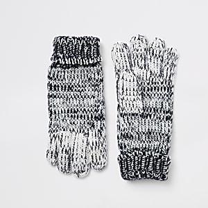 Marineblauwe ombré gebreide handschoenen voor jongens
