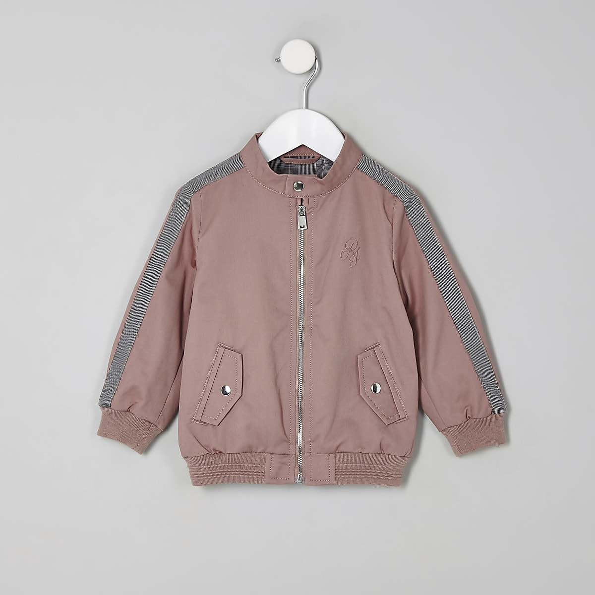 Mini boys pink RI bomber jacket
