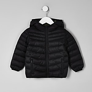 Mini boys black puffer jacket