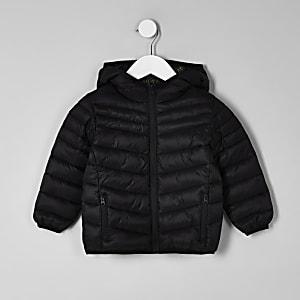 Mini - Zwart gewatteerd jack voor jongens