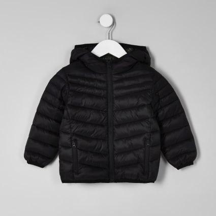 Mini boys black puffer jacket