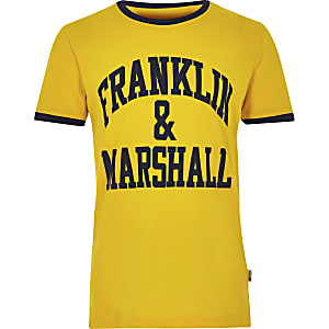 Franklin & Marshall – T-shirt jaune à logo pour garçon