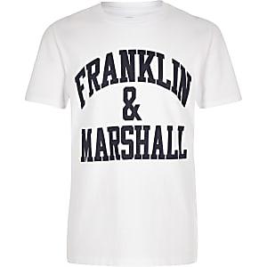 Franklin & Marshall – Weißes T-Shirt mit Logo