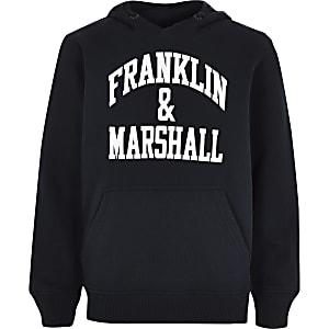 Boys Franklin & Marshall navy hoodie