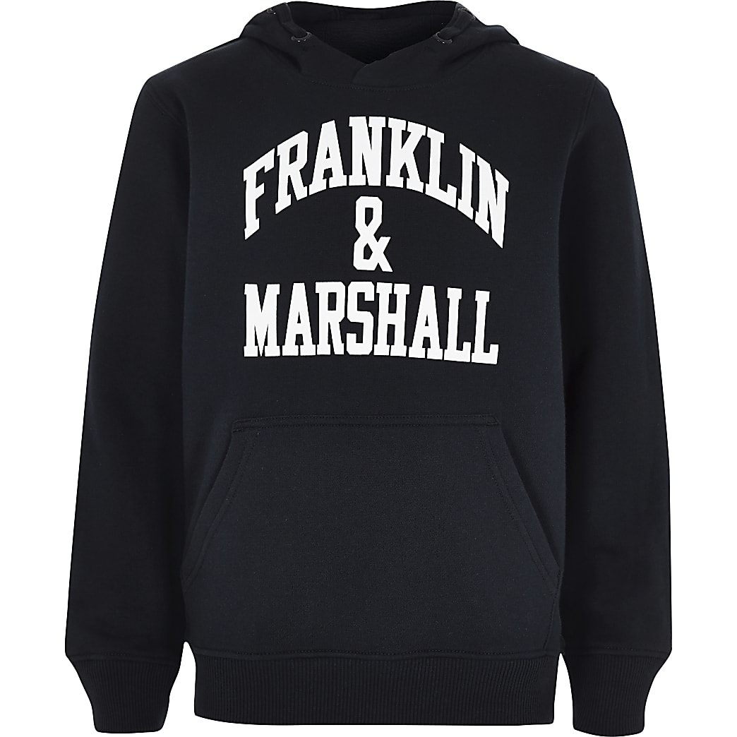 Sweat à capuche Franklin & Marshall bleu marine pour garçon