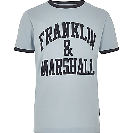 Boys blue Franklin & Marshall logo T-shirt