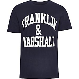 T-shirt Franklin & Marshall avec logo bleu marine pour garçon