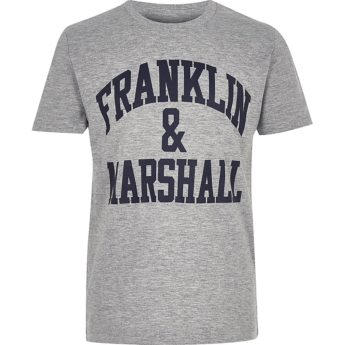 Franklin & Marshall – T-shirt à logo gris pour garçon