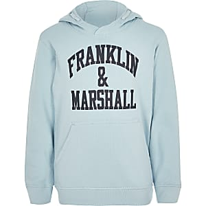 Boys Franklin & Marshall light blue hoodie