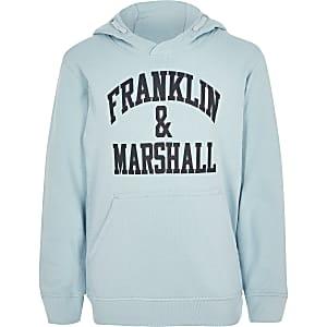 Franklin & Marshall – Hellblauer Hoodie