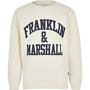 Franklin & Marshall – Sweat blanc pour garçon