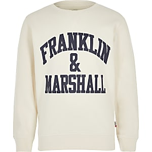 Franklin & Marshall - Wit sweatshirt voor jongens