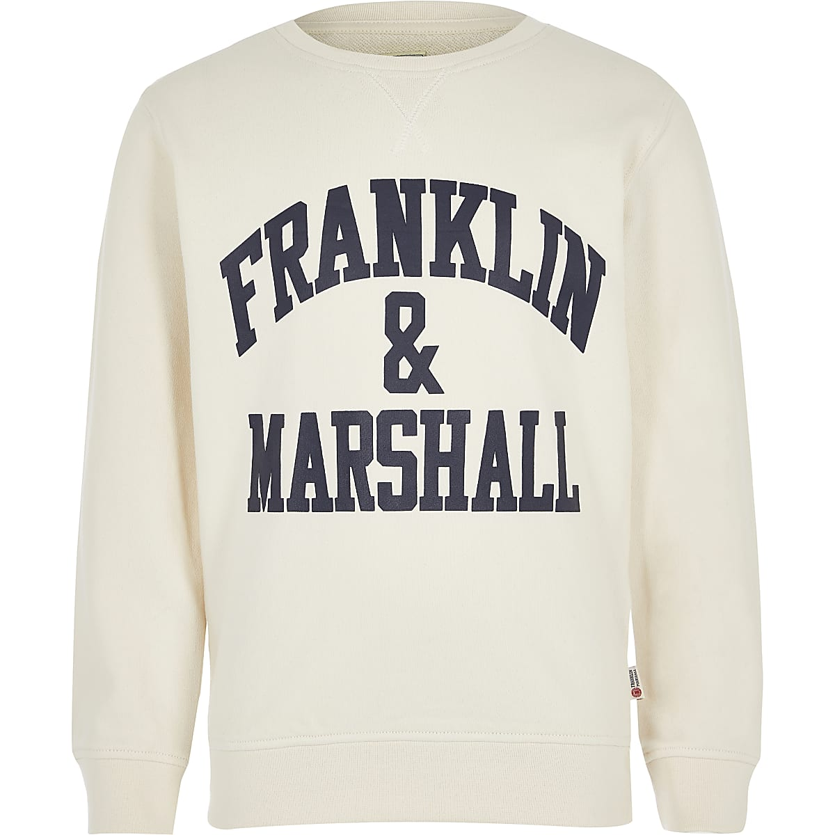 Boys Franklin & Marshall white sweatshirt