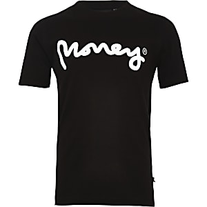 Boys black Money Clothing logo T-shirt