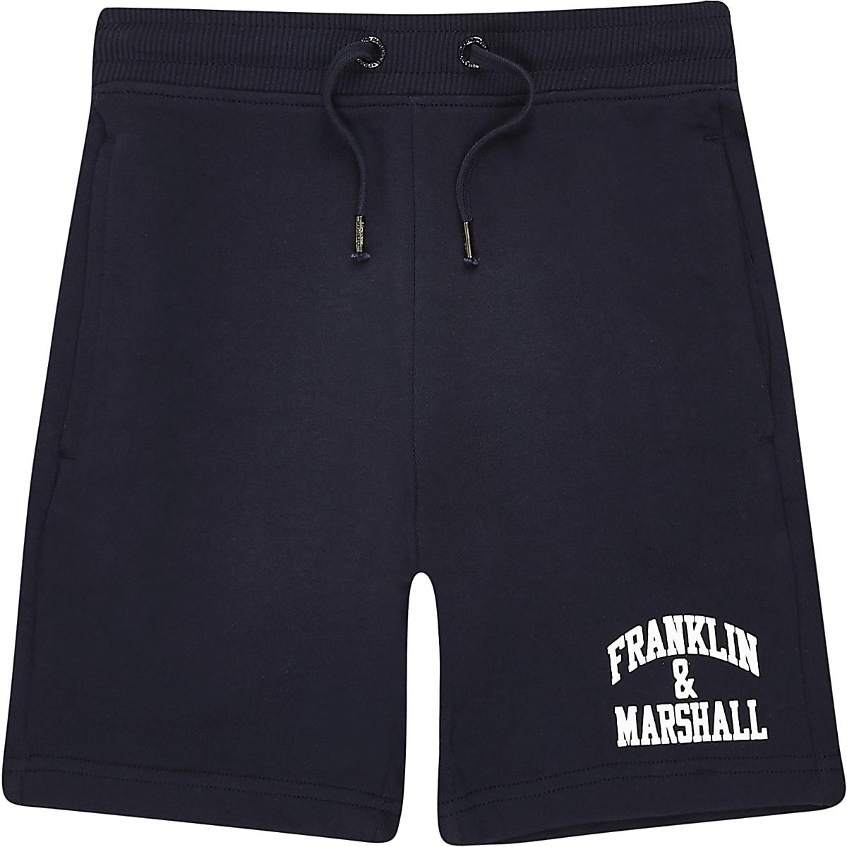 Boys navy Franklin & Marshall navy shorts